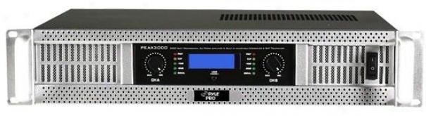 Pyle 19'' Rack 3000 Watt Professional Dj Power Amplifier W/ Digital Smt Technolp