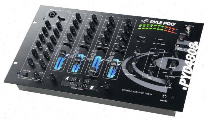 Pyle 19'' Harass  Rise 4 Passage Professional Mixer Pyd4808