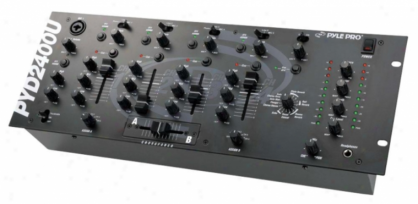 Pyle 19&#039;&#039; Rack Mount 4-channel Professional Mixer With Efx