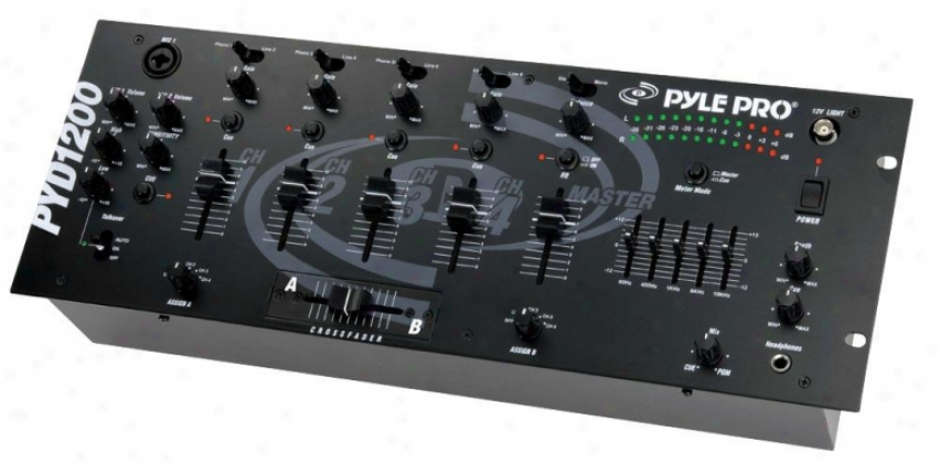 Pyle 19'' Rack Mount 4-channel Professional Mixer