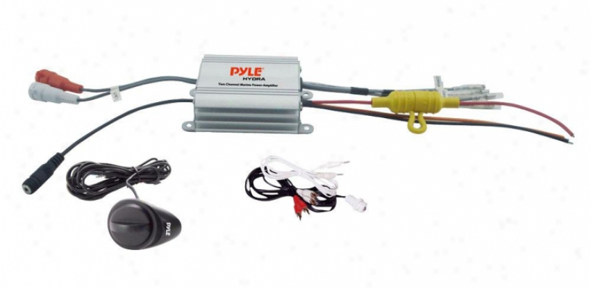 Pyle 2 Channel Waterproof Mp3/ Ipod Marine Power Amplifier