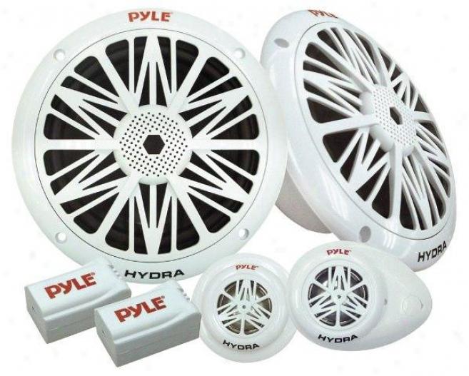 Pyl3 200 Watts 6.5'' 2-way Marine Component System