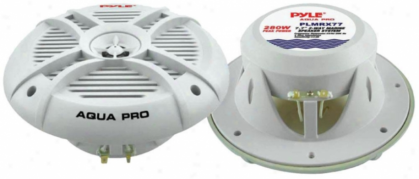 Pyle 280 Watts 7.7'' 2 Way Marine Speakers