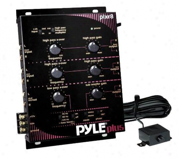 Pyle 3 Way Electronic Crossover W/remote Subwoofer Control