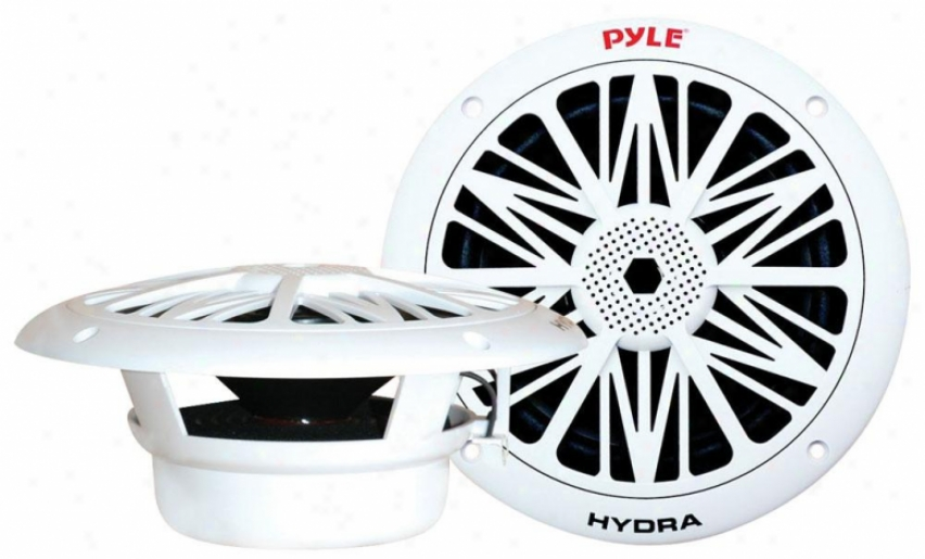 Pyle 300 Watts 8'' 2 Way White Marine Speakers