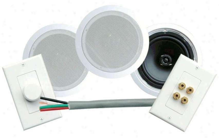 Pyle 300 Watts 8'' Dual In-ceiling Speaker /volume Contro/speaker Wall Plate/wir