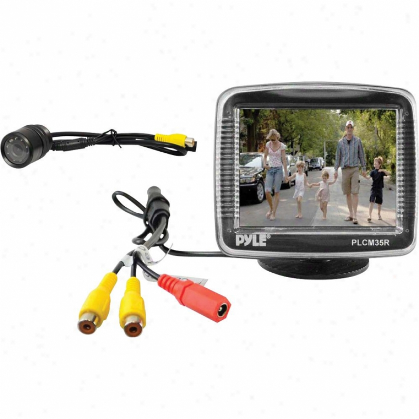 Pyle 3.5-in Tft Lcd Monitor/night Vision Rear-view Camera