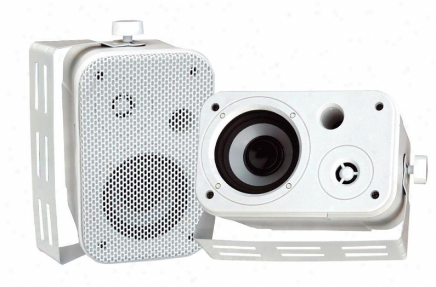 Pyle 3.5'' Indoor/outdoor Waterproof On-wall Speakers White Pdwr30w
