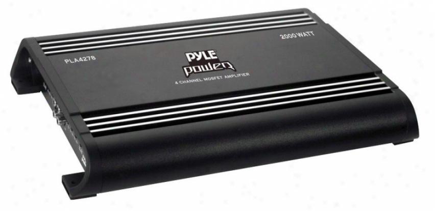 Pyle 4 Ch 2000 Watts Bridgeable Mosfet Amplifier