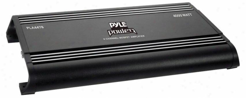Pyle 4 Ch 4000 Watts Bridgeable Mosfet Amplifier