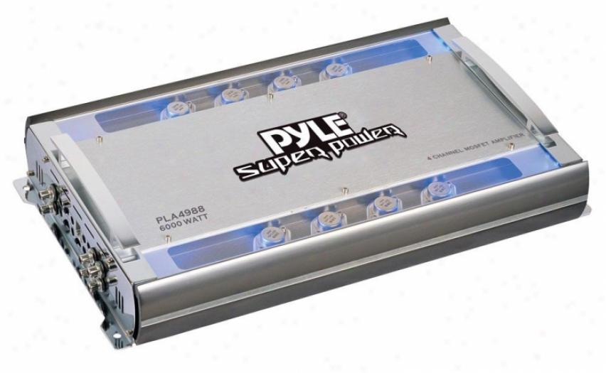 Pyle 4 Channel 6000 Watts Bridgeable Mosfet Amplifier