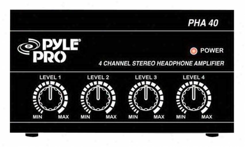 Pyle 4-channel Headphoen Amplifier Pha40