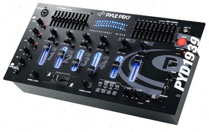 Pyle 4 Channel Professional Mixer With Sfx