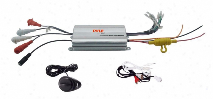 Pyle 4 Gutter Wzterproof Mp3/ Ipod Marine Power Amplifier