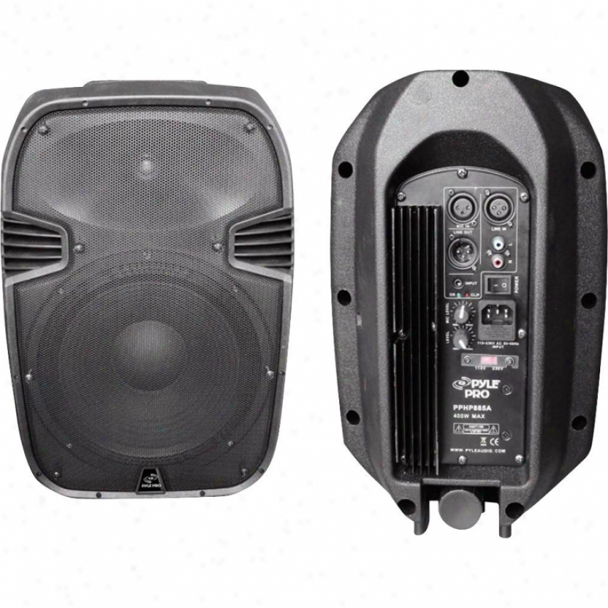 Pyle 400-watt 8&quot ;Powered 2-way Plastic Molded Speaker System