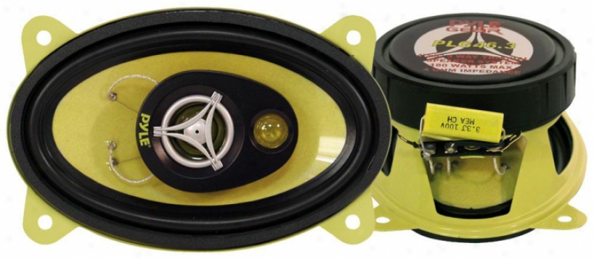 Pyle 4'' X 6'' 180 Watt Three-way Speakers