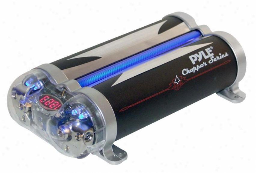 Ple 4.1 Farad Dual Link Capacitor W/blue Neon