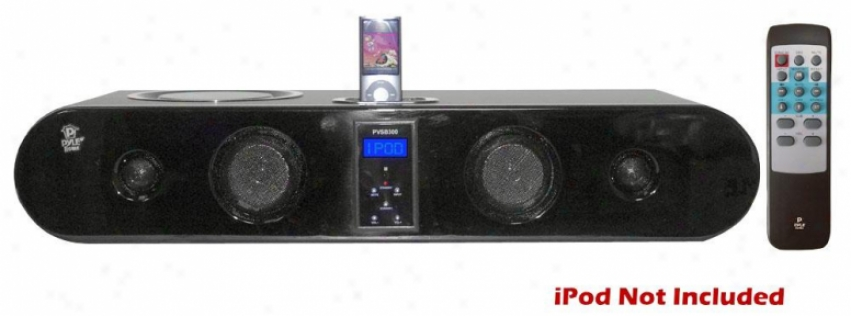 Pyle 5-way 240 Watt Multi-source Sound Bar Integrated I-pod Dock W/ Fm