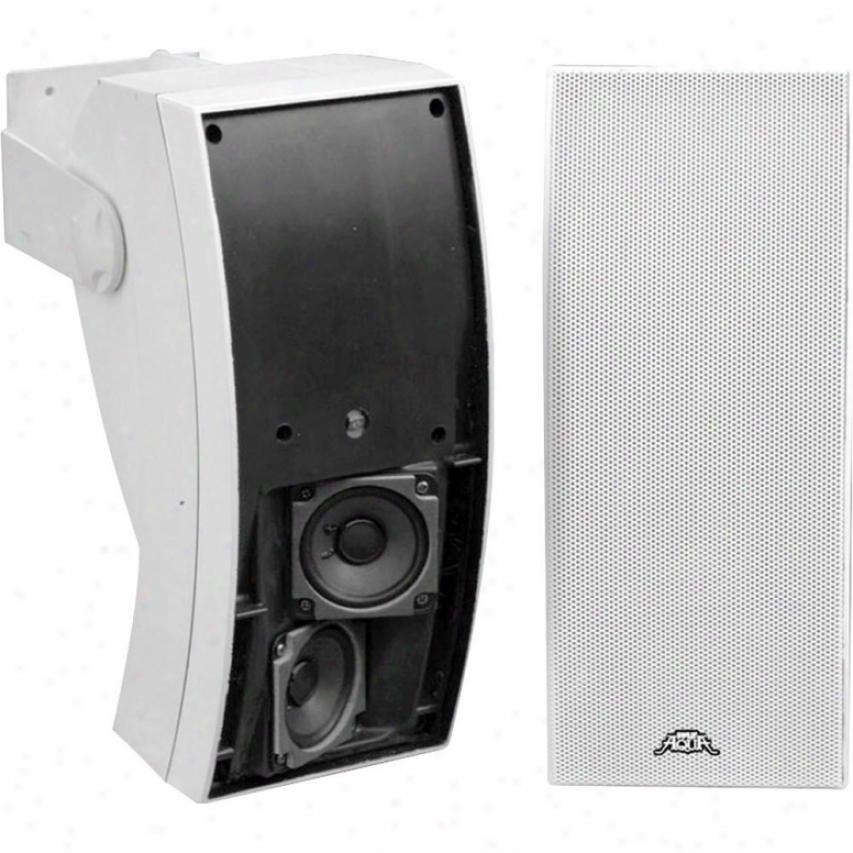 Pyle 5'' 3 Way Indoor/outdoor Water Proof Wall Mount Speaker System (white)