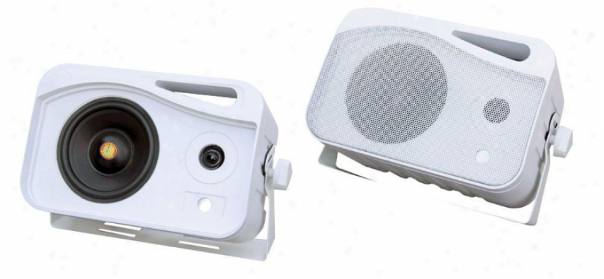 Pyle 5'' 500 Watt 3-way Weather Proof Mini Box System (white)