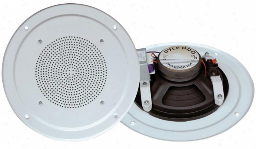 Pyle 5'' Full Range In Ceiling Speaker Scheme W/transformer