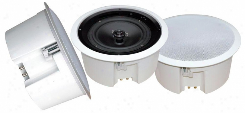 Pyle 5&#039;&#039; In Ceiljng Flussh Mouny Enclosure Speaker System W/rotary Tapping 70v Tr