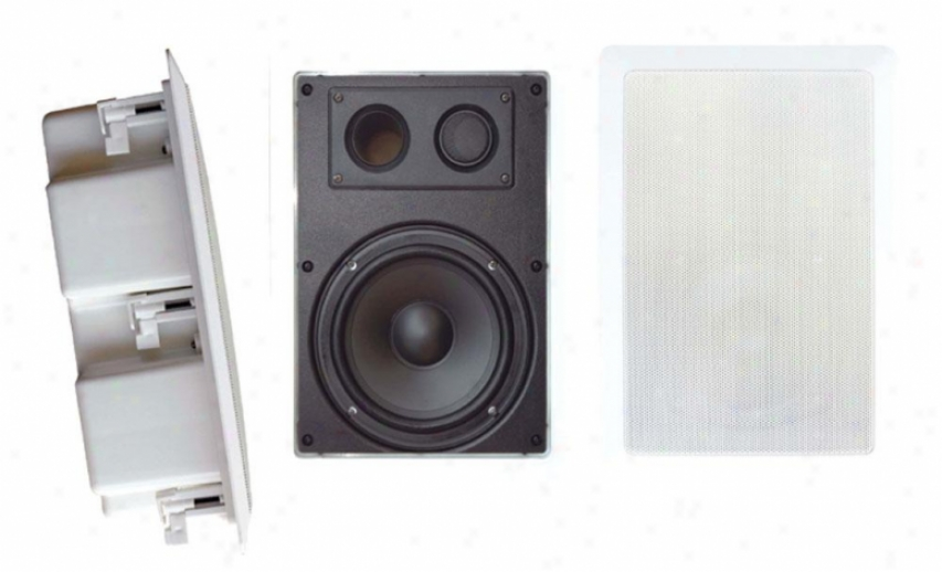 Pyle 5'' Two Way In Wall Enclosed Speaker System W/ Directional Tweeterr