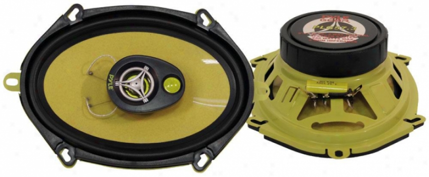 Pyle 5'' X 7''/6'' X 8'' 240 Watt Three-way Speakers