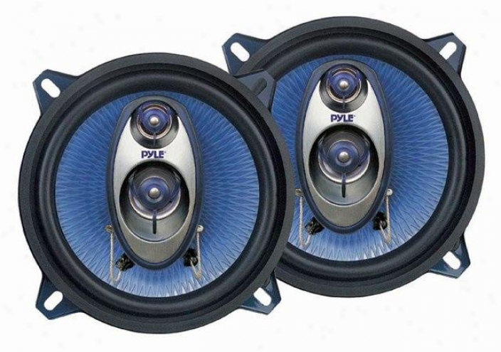 Pyle 5.25-inch 20-watt Three-way Car Speakers - Pl53bl