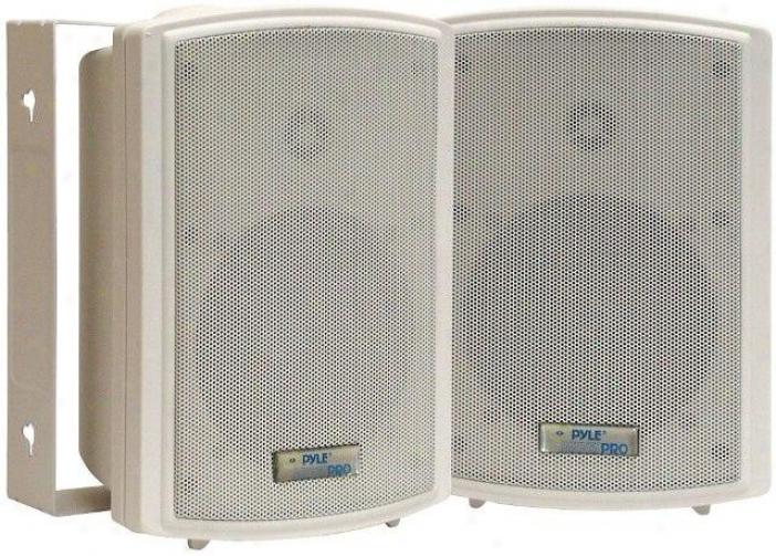Pyle 5.25'' Indoor-outdoor Waterproof Wall Mount Speakers Pdwr53