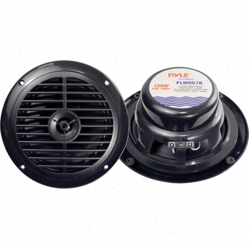 """Pyle 6-1/2"""" Dual Cone Waterproof Stereo Speaoer Order - Plmr67b"""