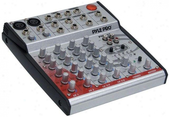 Pyle 6-channel 2-bus Console Mixer