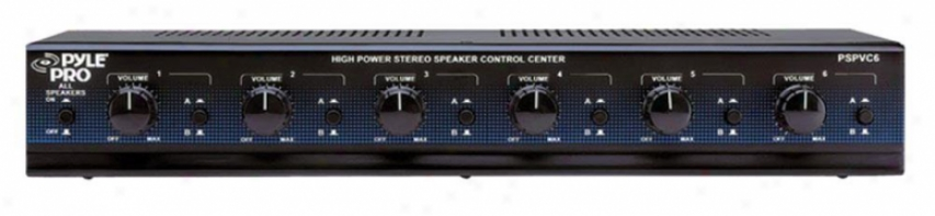 Pyle 6 Channel High Power Stereo Speaker Selector W/volume Control