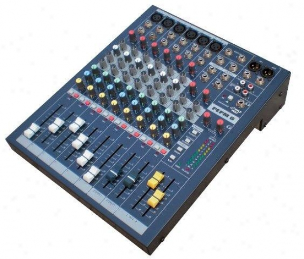 Pyle 6 Channel Professional Stereo Console Mixer