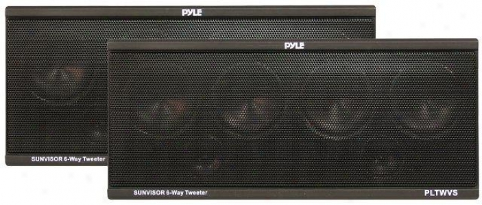 Pyle 6-way Sun Visor Mount 200 Watt Tweeter System