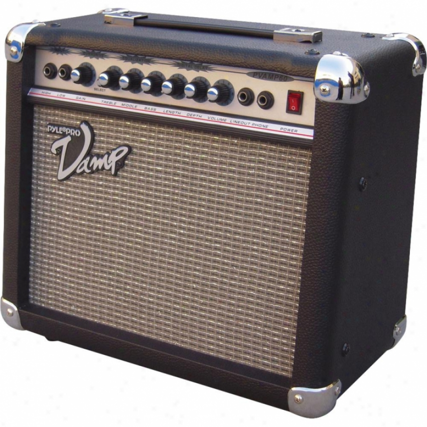 Pyle 60 Watt Vamp-series Amplifier With 3-band Eq, Overdrive, And Digital Delay