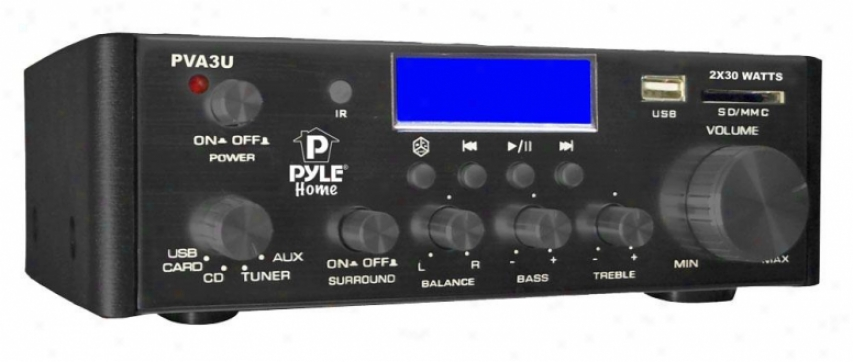 Pyle 60 Watts/ Hi-fi Mini Amplifier Usb/sd Card Player