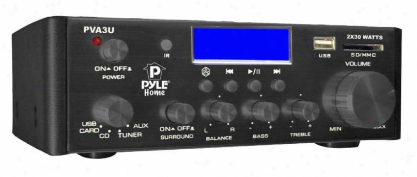 Pyle 60 Watts/ Hi-fi Mini Amplifier Usb/sd Card Player