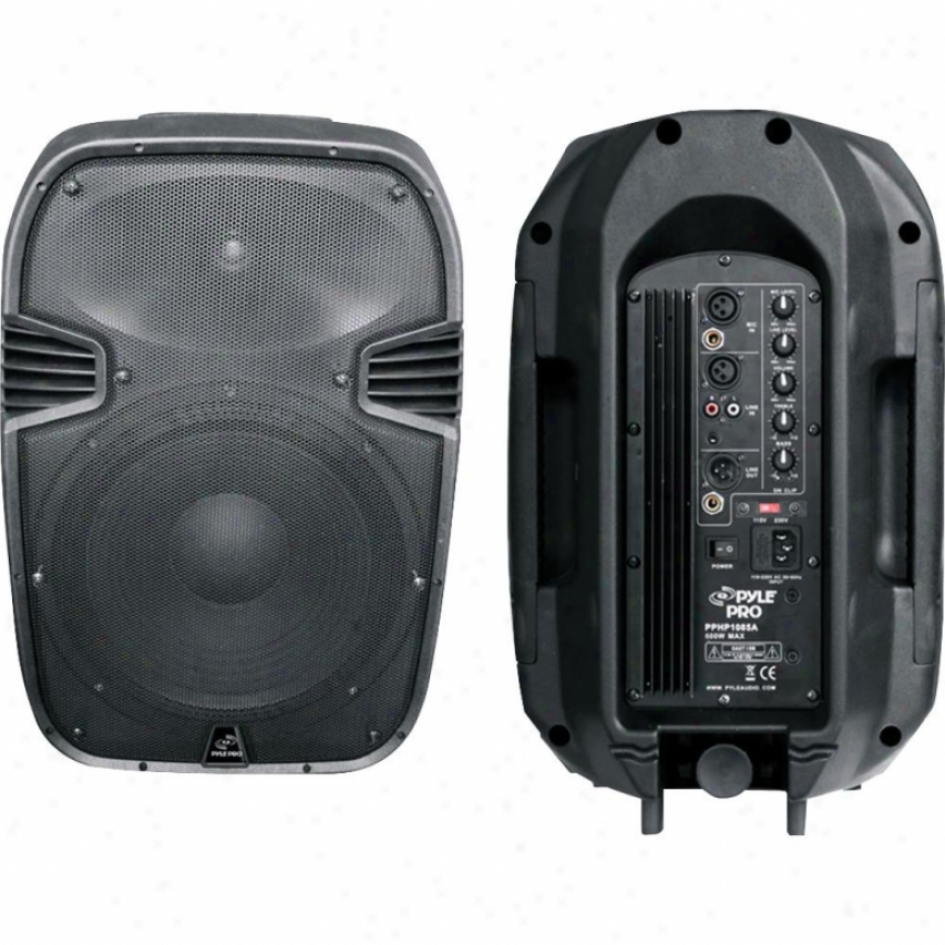 Pyle 600-watt 10&wuot; Powered 2-way Plastic Molded Speaker System