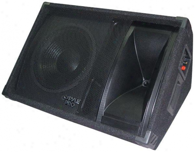 Pyle 600 Watt 12'' Two-way Stage Monitor Speaker System