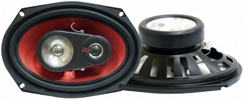 Pyle 6'' X 9'' 400 Watt Three-way Speakers