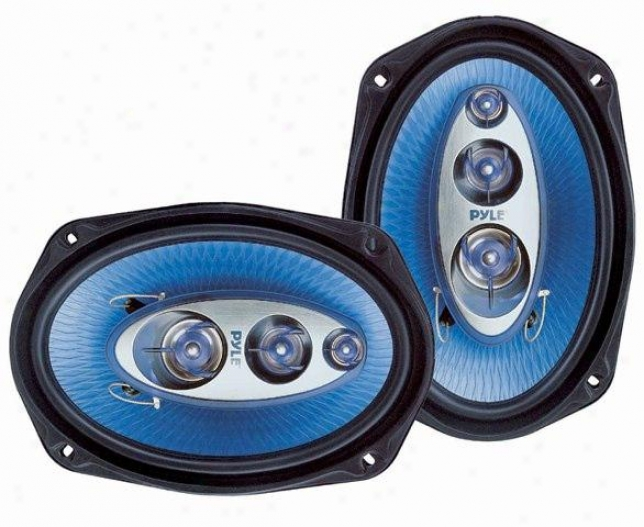 Pyle 6&#039;&#039;x 9&#039;&#039; 400 Watt Four-way Speakers