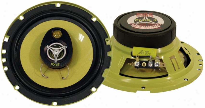 Pyle 6.5'' 280 Watt Three-way Speakers
