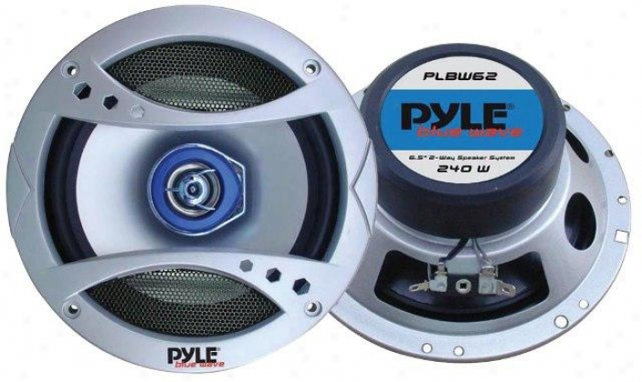 Pyle 6.5'' 3O0 Watt Two-wah Speaker W/blue Led Light