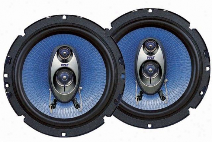 "Pyle 6.5"" 360-watt Three-way Car Speakers - Pl63bl"