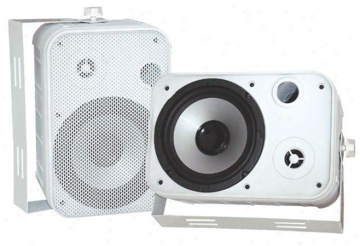 "Pyle 6.5"" Indoor/outdoor Waterproof Speakers White Pdwr50w"