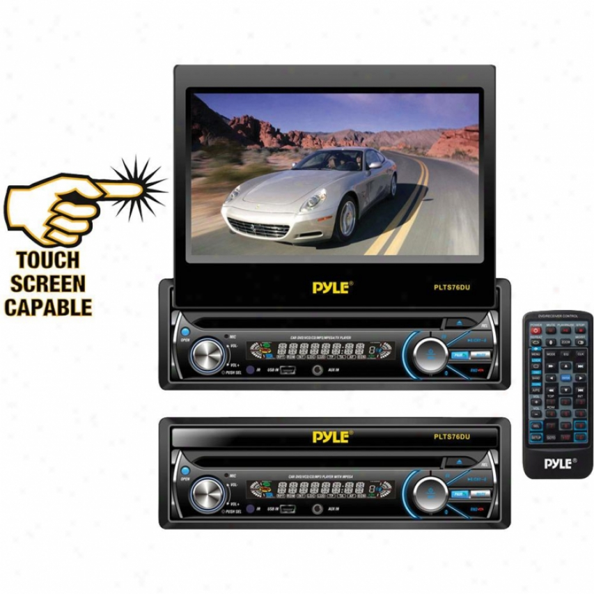 Pyle 7-in Touch Sieve Motorized Tft/lcd Monitor With Dvd/cd/mp3/am/fm Receiver