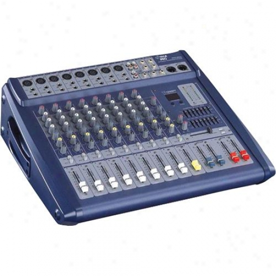 Pyle 8 Channel 600 Watts Digital Powered Stereo Mixer W/dsp Pmx808