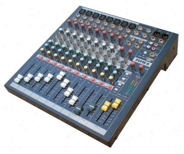 Pyle 8 Channel Console Mixer Pemp8