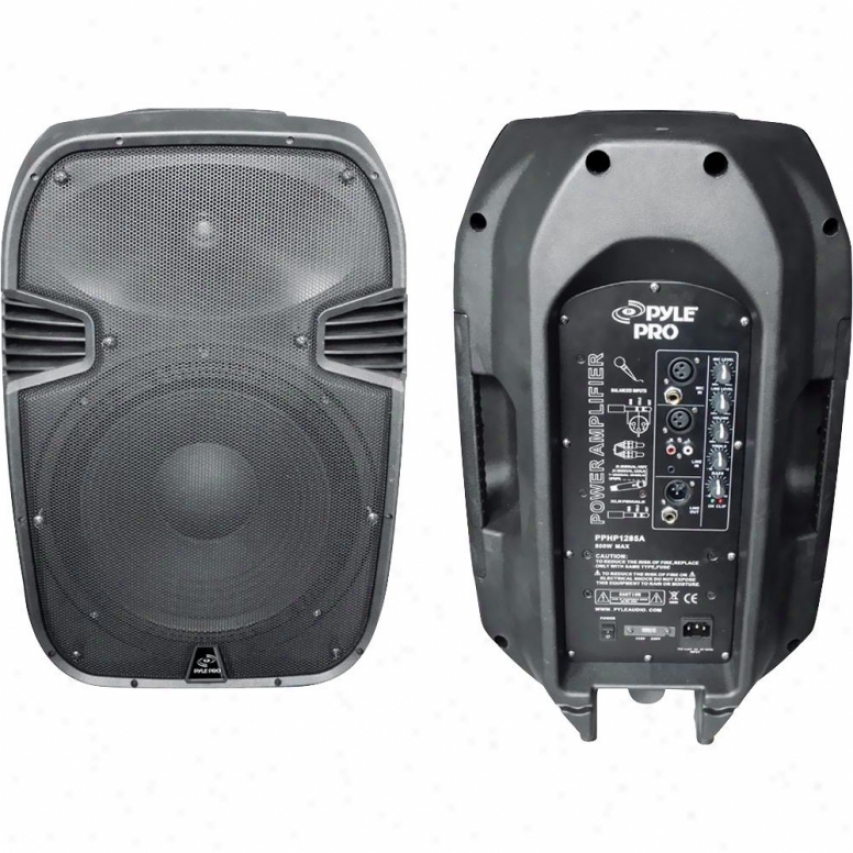 "Pyle 800-watt 12"" Poaered 2-way Plastic Molded Speaker System - Pphp1285a"